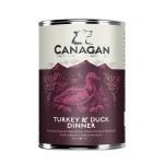 Canagan Mokra karma TURKEY & DUCK DINNER dla psa 400g