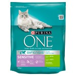 Purina ONE SENSITIVE Bogata w indyka i ryż 800g