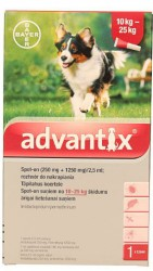Bayer advantix Spot-on 2,5 ml (10 - 25 kg)