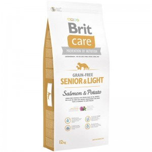 Brit Care Grain-free Senior Salmon & Potato 1/3/12kg