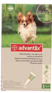 Bayer advantix Spot-on 0,4 ml (do 4 kg) - różne warianty