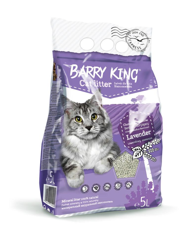 Barry King Żwirek bentonit dla kota lawendowy - różna..