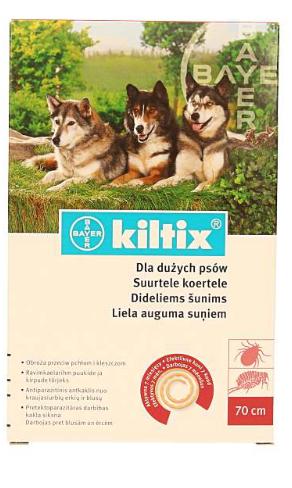 Obroża przeciwkleszczowa Kiltix dla dużych psów